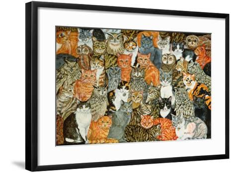 The Owls and the Pussycats-Ditz-Framed Art Print
