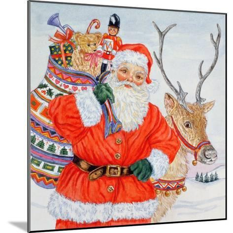 Father Christmas and His Reindeer-Catherine Bradbury-Mounted Giclee Print