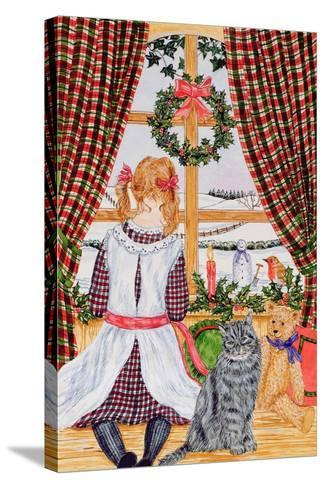 Christmas Morning at the Window-Catherine Bradbury-Stretched Canvas Print