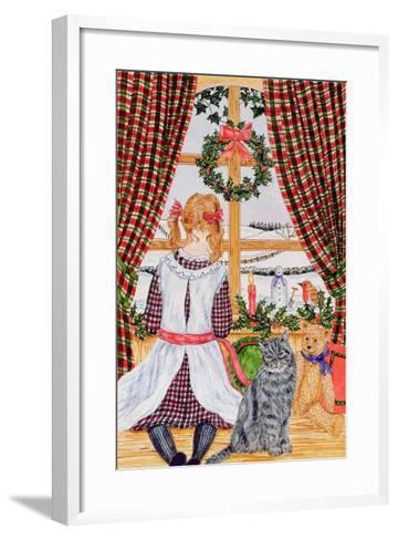 Christmas Morning at the Window-Catherine Bradbury-Framed Art Print