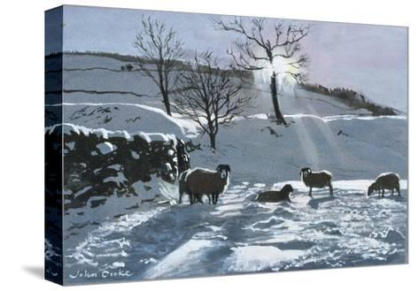 Winter Afternoon at Dentdale, 1991-John Cooke-Stretched Canvas Print