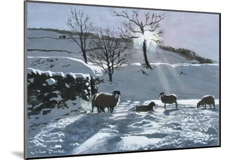 Winter Afternoon at Dentdale, 1991-John Cooke-Mounted Giclee Print