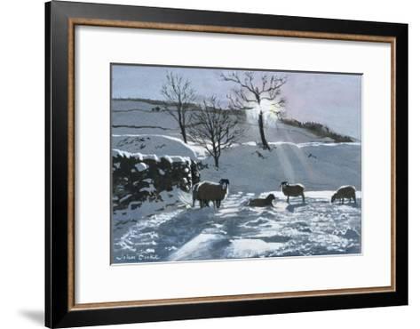 Winter Afternoon at Dentdale, 1991-John Cooke-Framed Art Print