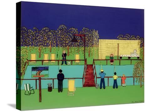 Fishing Pond-Micaela Antohi-Stretched Canvas Print
