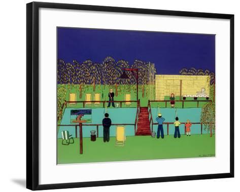 Fishing Pond-Micaela Antohi-Framed Art Print