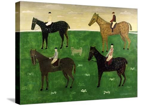 Horses and Jockeys-George Fredericks-Stretched Canvas Print
