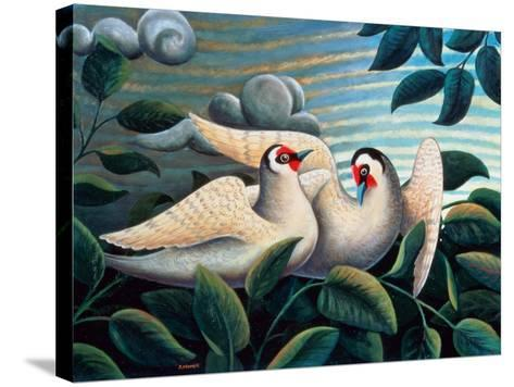The Love Birds-Jerzy Marek-Stretched Canvas Print
