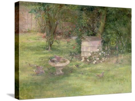 Beehive and Doves-Joyce Haddon-Stretched Canvas Print