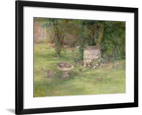 Beehive and Doves-Joyce Haddon-Framed Art Print