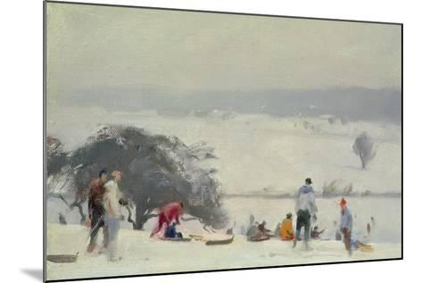 Tobogganing, the Meads, Hertford-Trevor Chamberlain-Mounted Giclee Print
