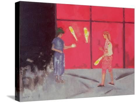Jugglers at the Beaubourg, 1975-David Alan Redpath Michie-Stretched Canvas Print