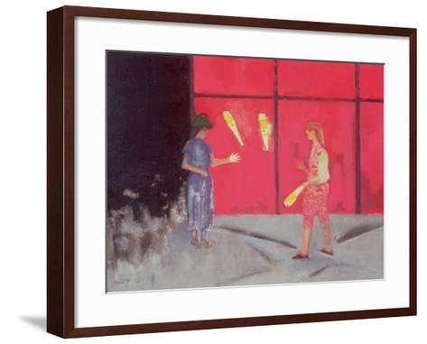 Jugglers at the Beaubourg, 1975-David Alan Redpath Michie-Framed Art Print