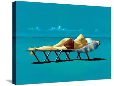 Sunbather-Simon Cook-Stretched Canvas Print