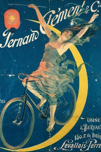 Poster Advertising 'Fernand Clement' Bicycles-Pal-Stretched Canvas Print