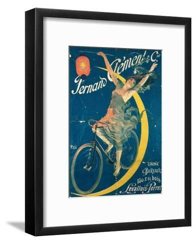 Poster Advertising 'Fernand Clement' Bicycles-Pal-Framed Art Print