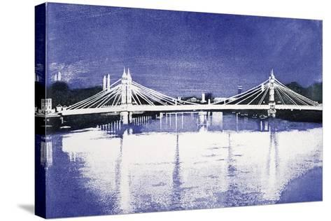 Albert Bridge (After Painting)-Isabel Hutchison-Stretched Canvas Print
