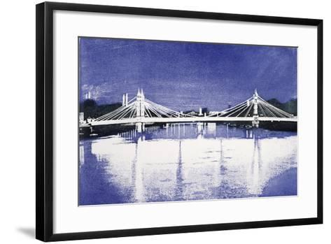 Albert Bridge (After Painting)-Isabel Hutchison-Framed Art Print