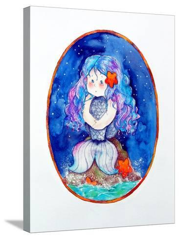 Sad Little Mermaid-Maylee Christie-Stretched Canvas Print