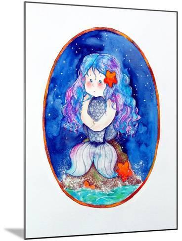 Sad Little Mermaid-Maylee Christie-Mounted Giclee Print