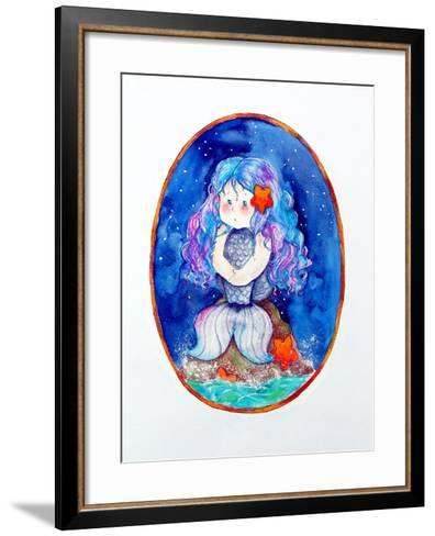 Sad Little Mermaid-Maylee Christie-Framed Art Print