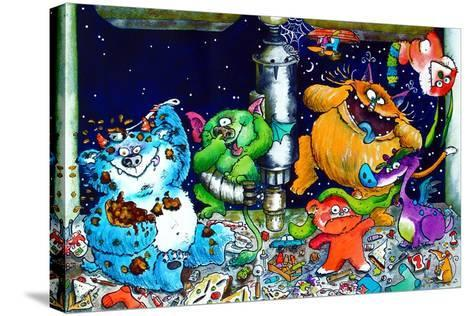 Monsters under the Sink-Maylee Christie-Stretched Canvas Print