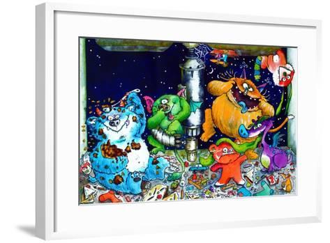 Monsters under the Sink-Maylee Christie-Framed Art Print