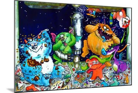 Monsters under the Sink-Maylee Christie-Mounted Giclee Print