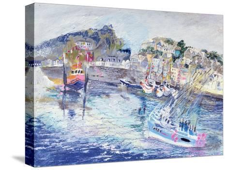 Fishing Harbour, Newlyn, Cornwall, 2005-Sophia Elliot-Stretched Canvas Print
