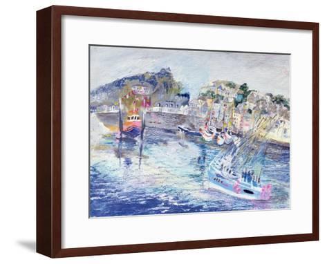 Fishing Harbour, Newlyn, Cornwall, 2005-Sophia Elliot-Framed Art Print