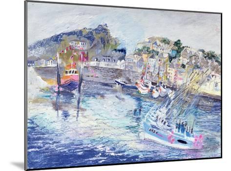Fishing Harbour, Newlyn, Cornwall, 2005-Sophia Elliot-Mounted Giclee Print