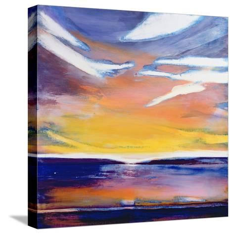 Evening Seascape-Lou Gibbs-Stretched Canvas Print