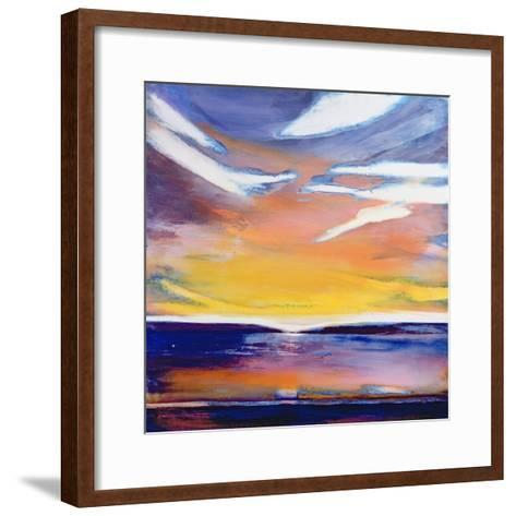 Evening Seascape-Lou Gibbs-Framed Art Print