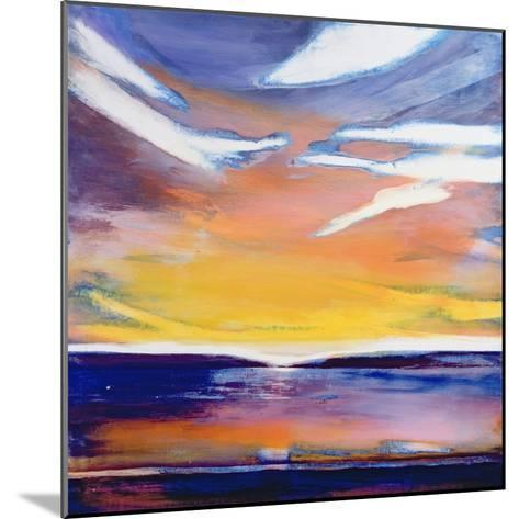 Evening Seascape-Lou Gibbs-Mounted Giclee Print