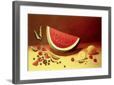 Watermelon-Dory Coffee-Framed Art Print