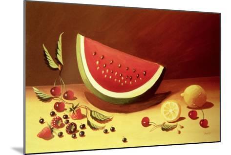 Watermelon-Dory Coffee-Mounted Giclee Print
