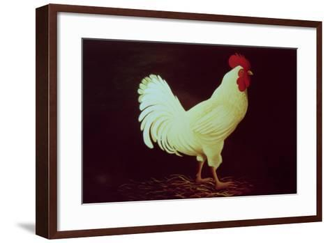 Rooster-Dory Coffee-Framed Art Print