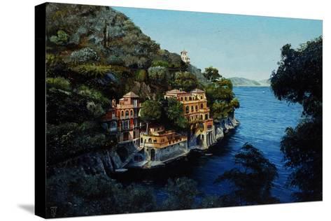 Villa, Portofino, from Hotel Picolo, Liguria, 1998-Trevor Neal-Stretched Canvas Print