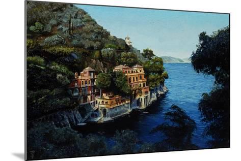 Villa, Portofino, from Hotel Picolo, Liguria, 1998-Trevor Neal-Mounted Giclee Print