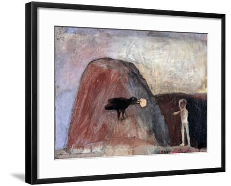 Elijah Fed by a Raven in the Desert I, 1991-Albert Herbert-Framed Art Print