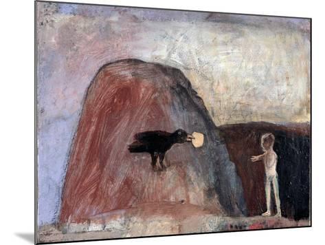 Elijah Fed by a Raven in the Desert I, 1991-Albert Herbert-Mounted Giclee Print