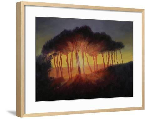 Wild Trees at Sunset, 2002-Antonia Myatt-Framed Art Print