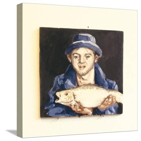Fish-Boy-Robert Burkall Marsh-Stretched Canvas Print