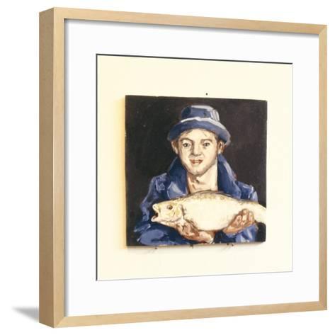 Fish-Boy-Robert Burkall Marsh-Framed Art Print