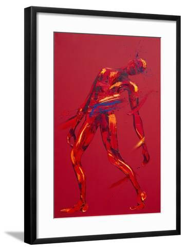 Jesus Falls for the First Time - Station 3-Penny Warden-Framed Art Print