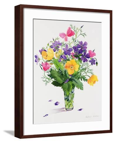 Poppies and Geraniums-Christopher Ryland-Framed Art Print