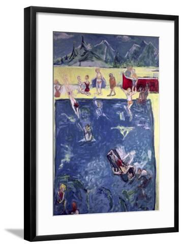 Swimmers in Wengen-Julie Held-Framed Art Print