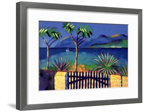 Mediterranean Garden-Sara Hayward-Framed Art Print