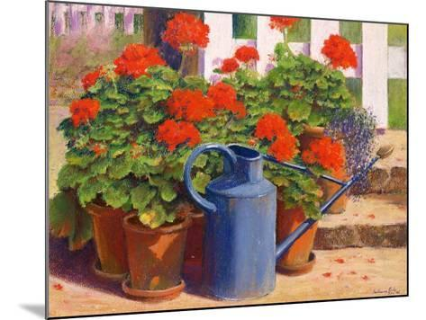 The Blue Watering Can, 1995-Anthony Rule-Mounted Giclee Print