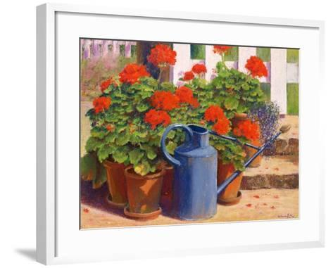 The Blue Watering Can, 1995-Anthony Rule-Framed Art Print