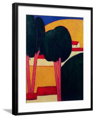Provencal Farm, 1997-Eithne Donne-Framed Art Print